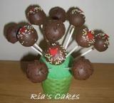 Cake Pops - Hearts and Chocolate Sticks