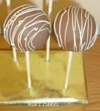 cakepops milk choc with white choc drizzle