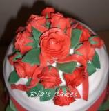 Red Roses on a Giant Cupcake